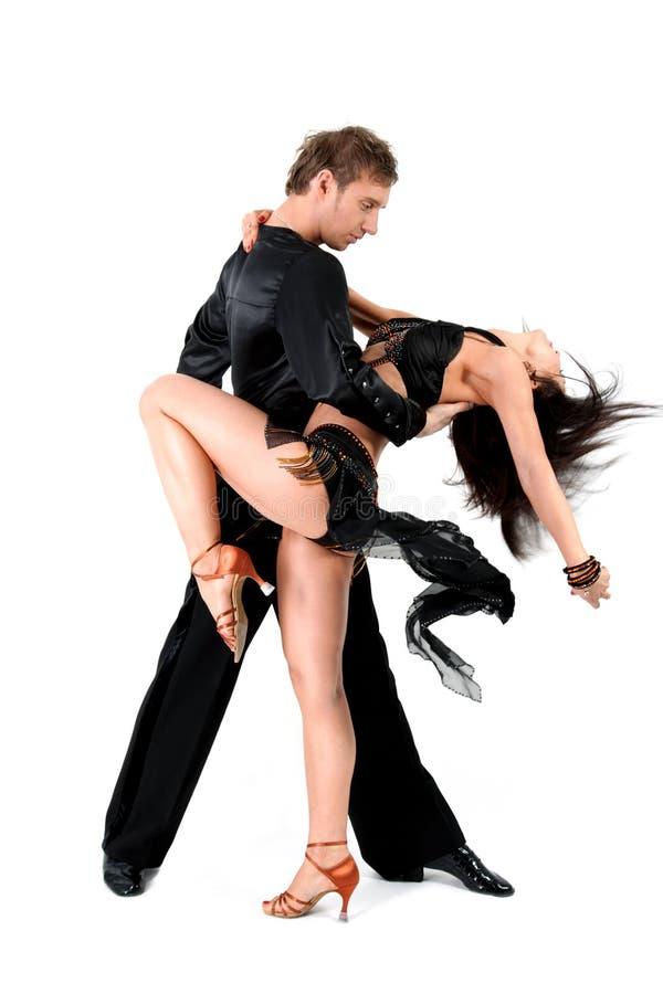 Dançarinos do Latino na ação imagem de stock