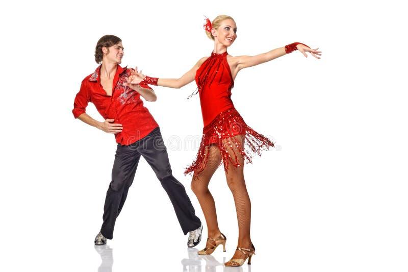 Dançarinos do Latino na ação. fotos de stock royalty free