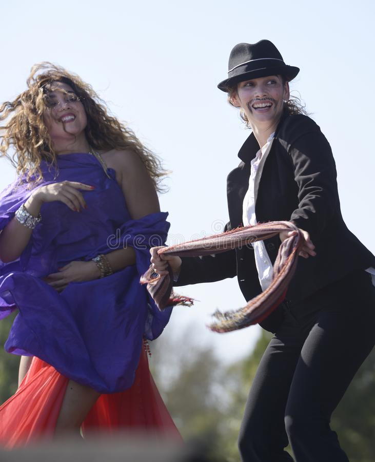 Dançarinos do Oriente Médio imagem de stock royalty free