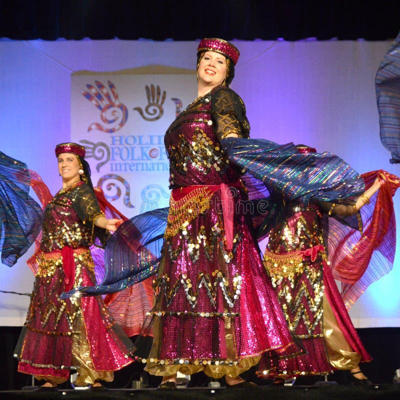 Dançarinos do Oriente Médio fotografia de stock royalty free