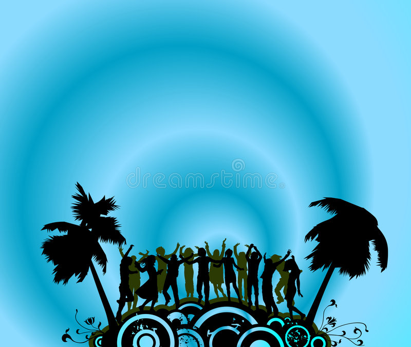 Dançarinos do partido ilustração do vetor