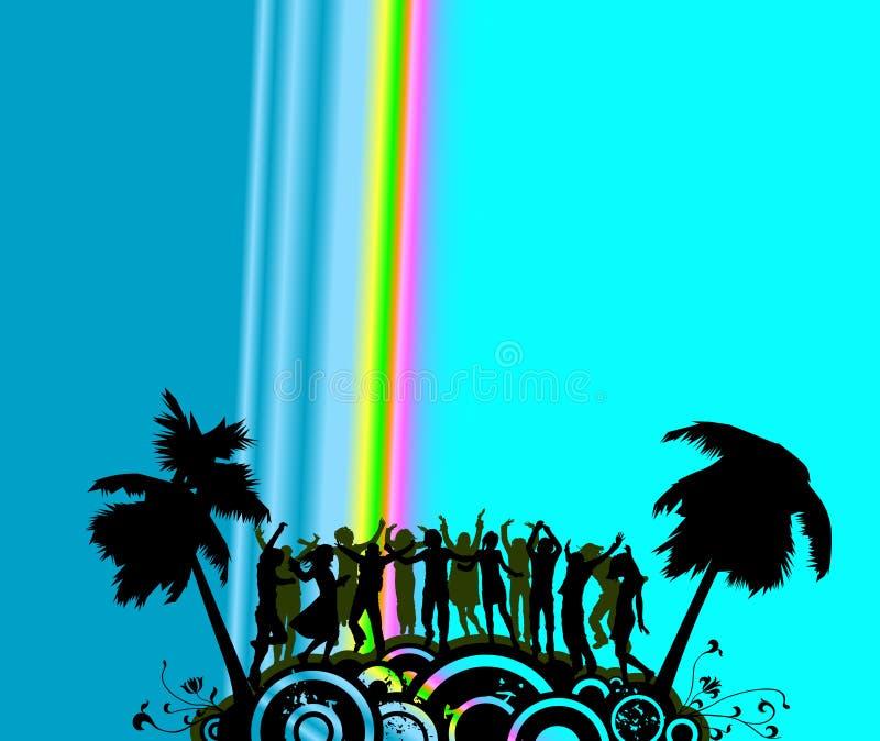 Dançarinos do partido ilustração royalty free