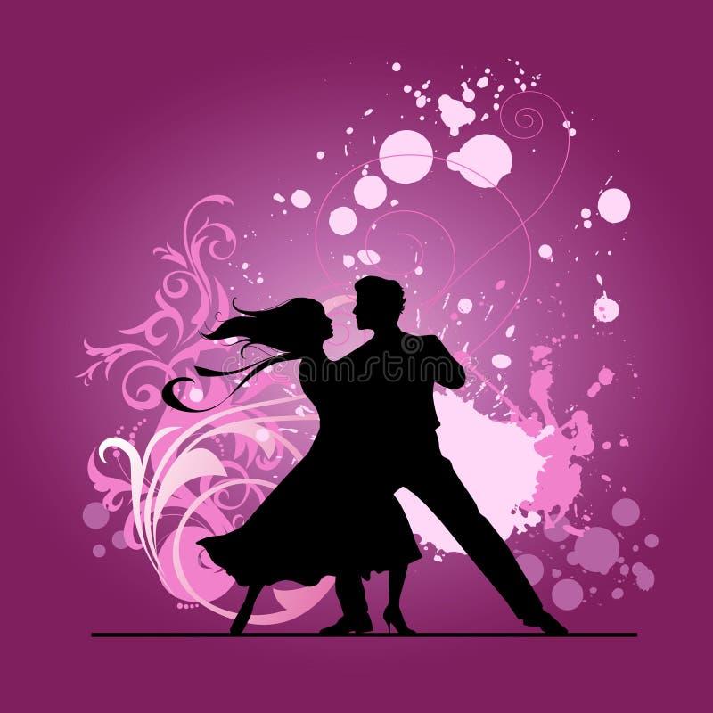 Dançarinos do salão de baile. ilustração royalty free