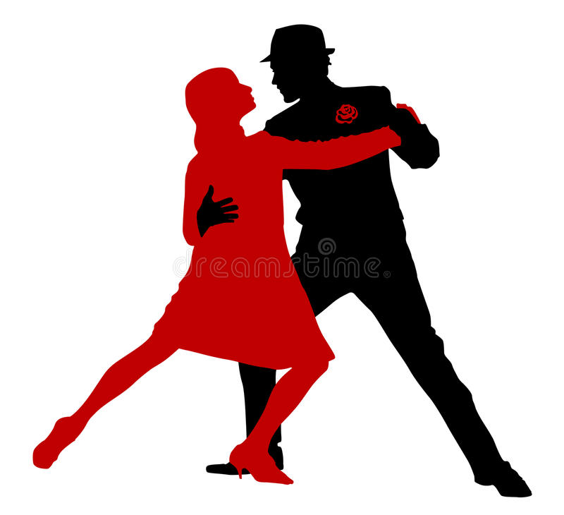 Dançarinos do tango ilustração stock