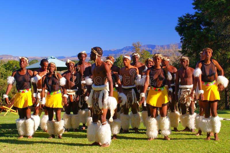 Dançarinos do tribo Zulu fotografia de stock royalty free