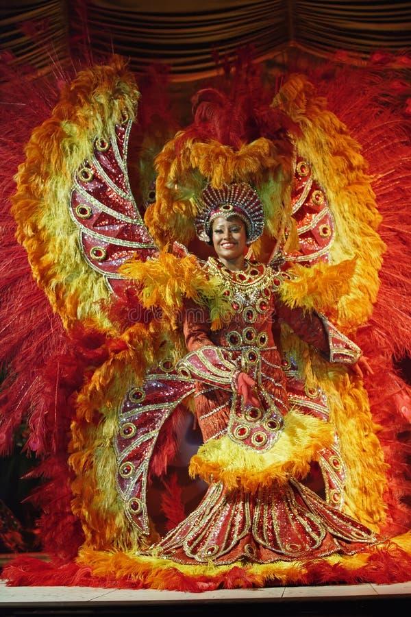 Dançarinos em Samba Show no Plataforma Rio de janeiro fotografia de stock