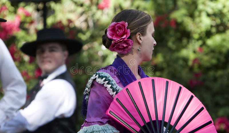 Dançarinos espanhóis Rancho Camulos fotos de stock royalty free