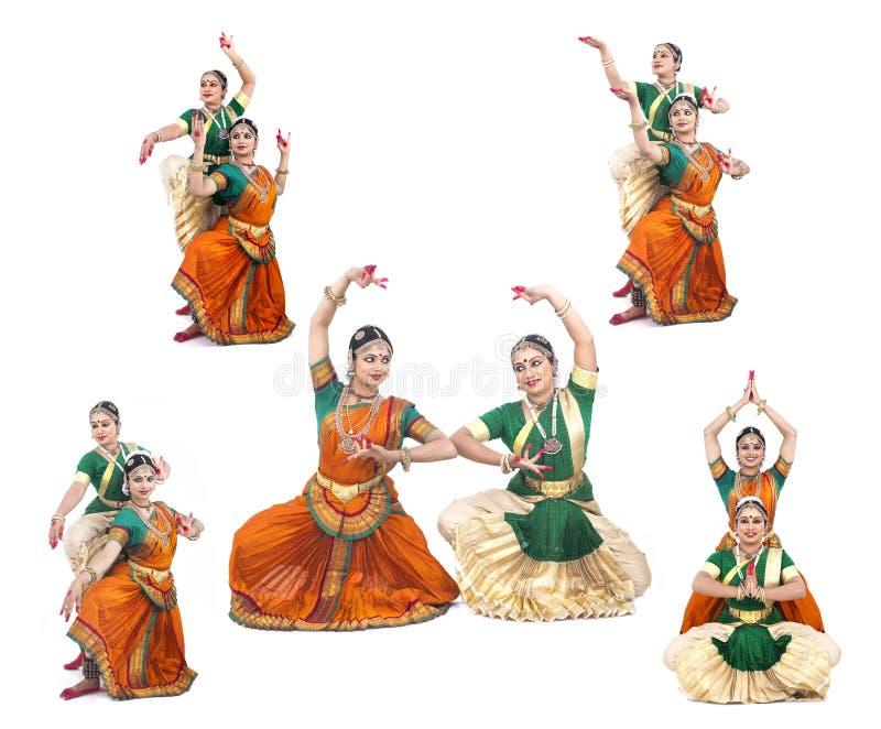 Dançarinos fêmeas clássicos indianos foto de stock