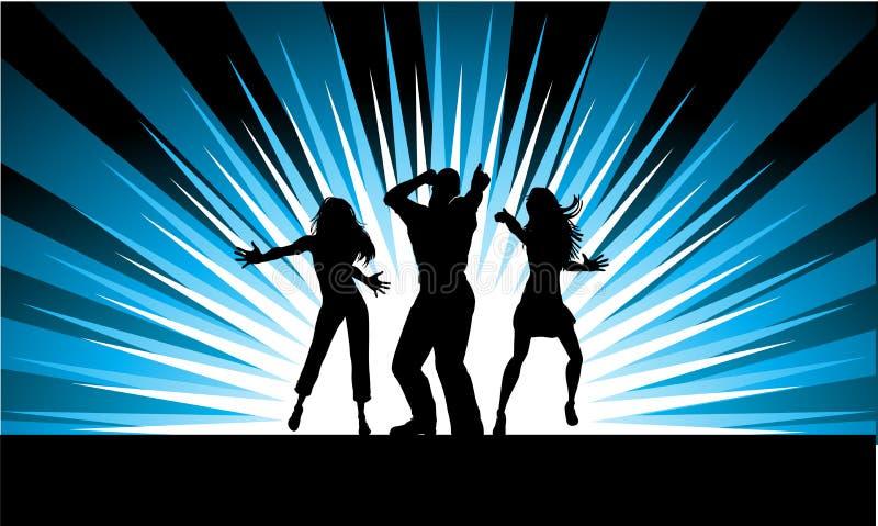 Dançarinos Funky ilustração do vetor