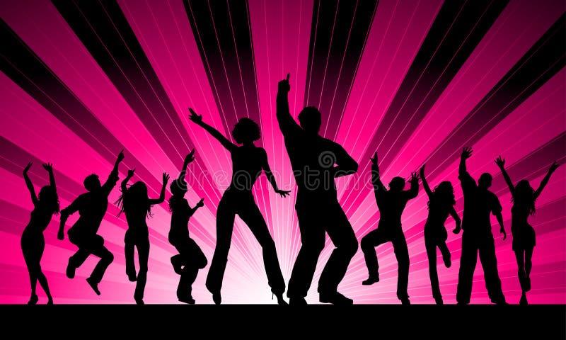 Dançarinos Funky ilustração stock