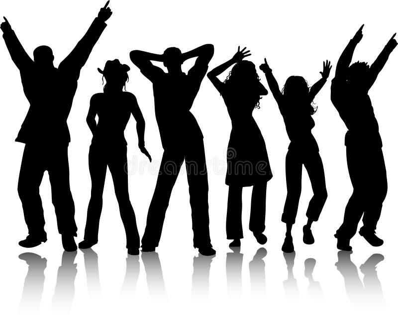 Dançarinos Funky ilustração royalty free