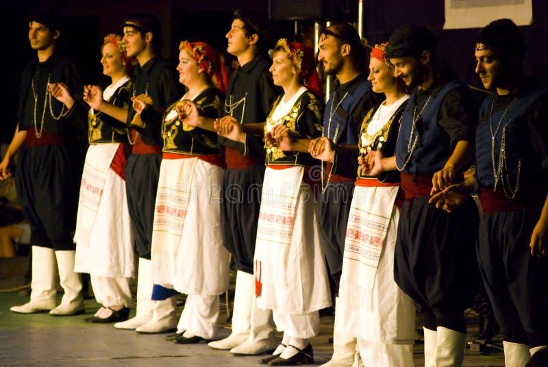 Dançarinos gregos imagem de stock