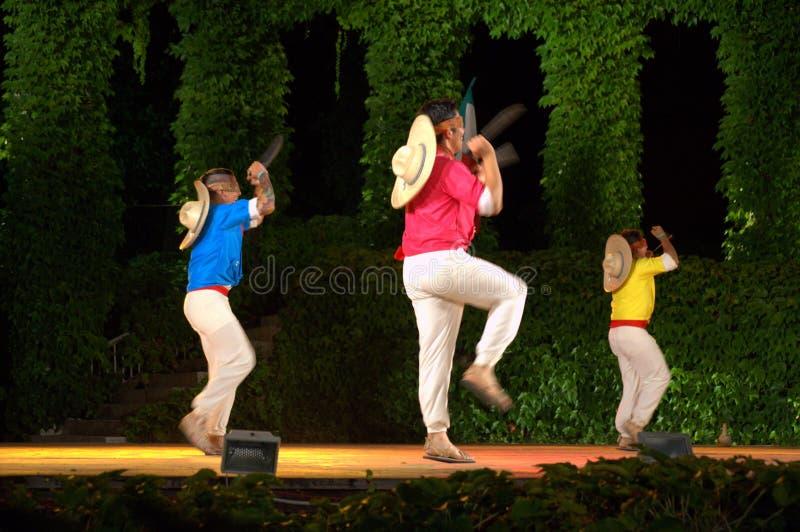 Dançarinos mexicanos do machete fotografia de stock