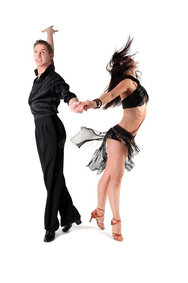 Dançarinos na ação fotos de stock