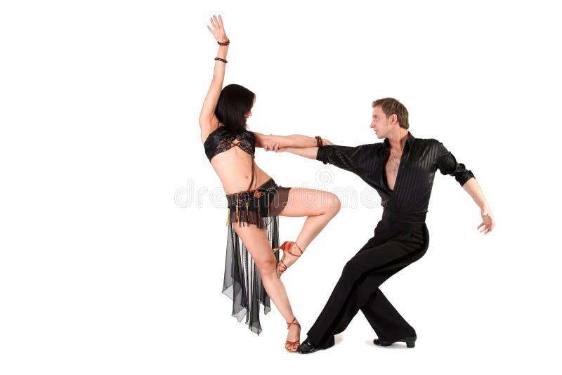Dançarinos na ação fotografia de stock royalty free