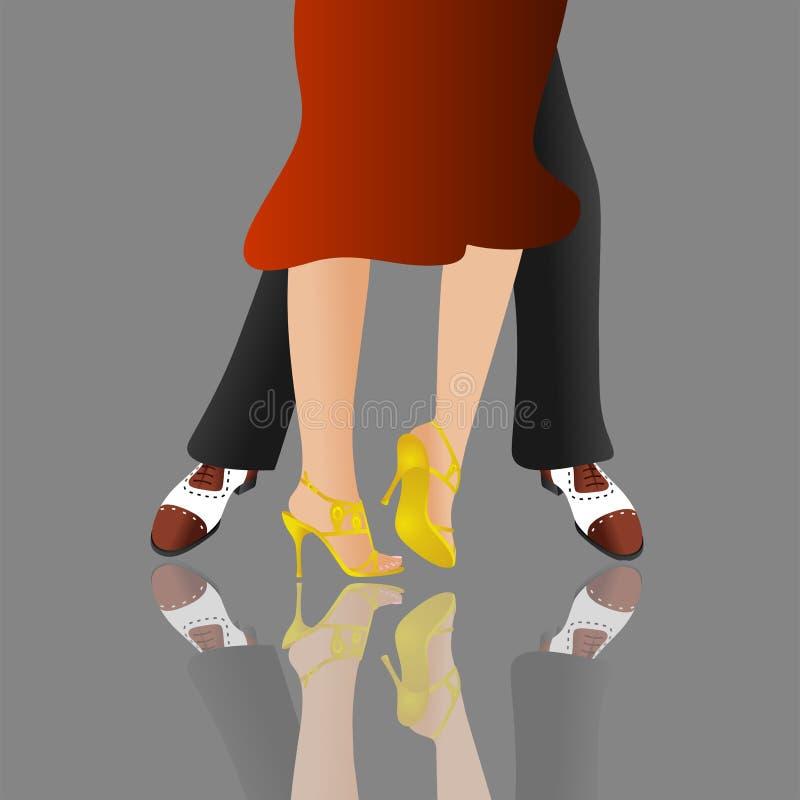 Dançarinos no estágio ilustração do vetor