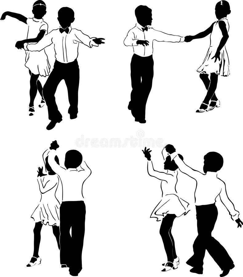 Dançarinos novos #1 ilustração royalty free