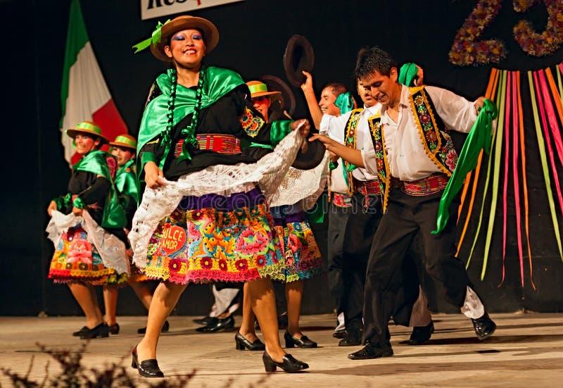 Dançarinos peruanos imagens de stock