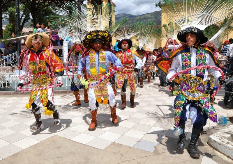 Dançarinos peruanos fotos de stock