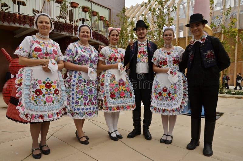 Dançarinos populares húngaros imagens de stock