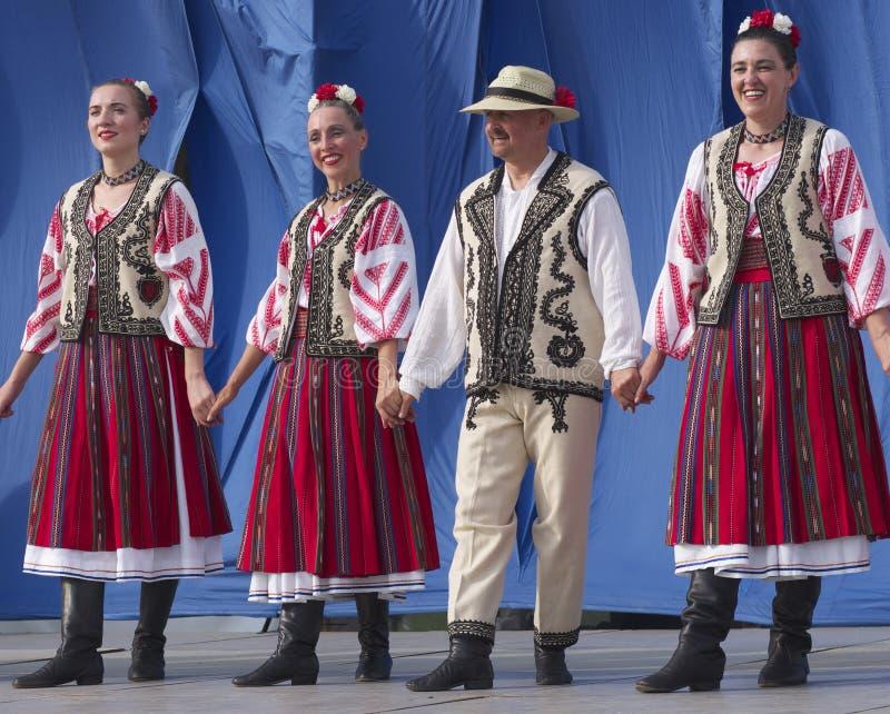 Dançarinos romenos fotos de stock royalty free