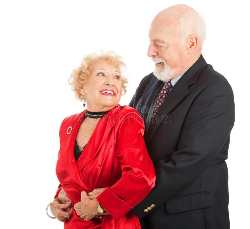 Dançarinos sênior românticos fotos de stock