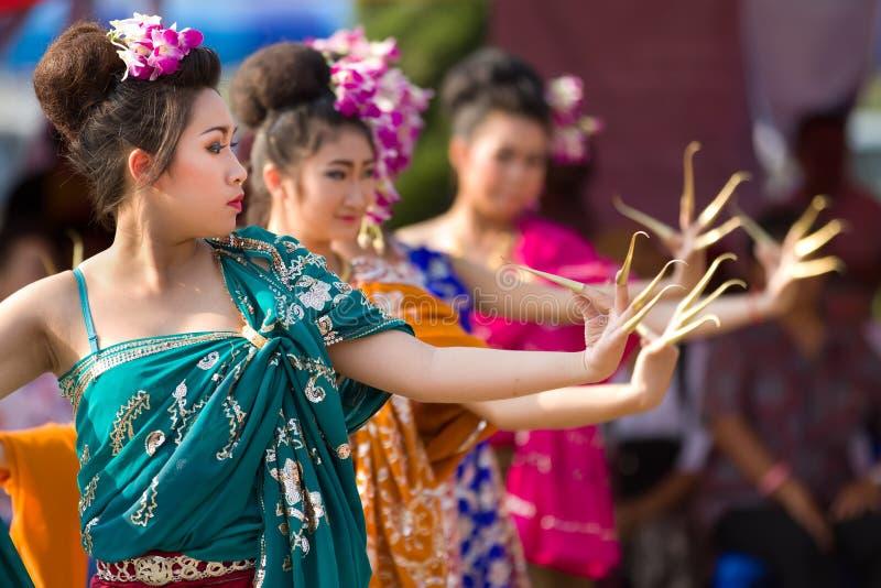 Dançarinos tailandeses tradicionais fotos de stock royalty free