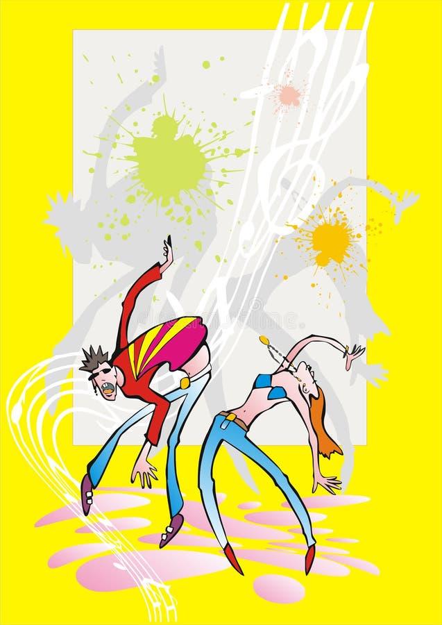 Danças   ilustração royalty free