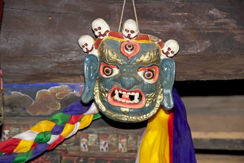 Danças da máscara, Butão imagens de stock