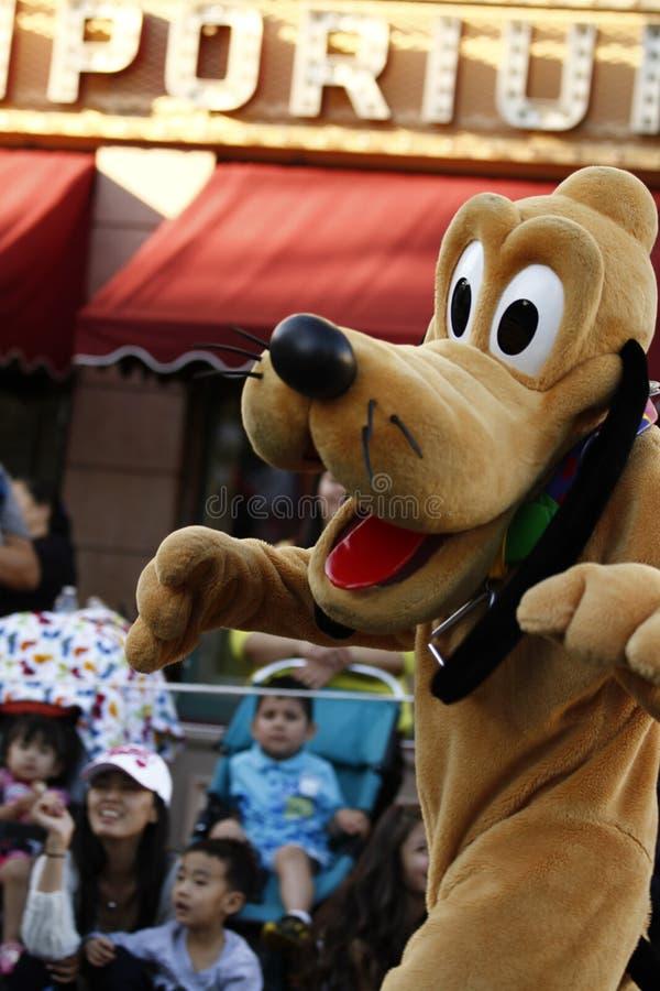 Danças do Plutão em Disneylândia fotografia de stock