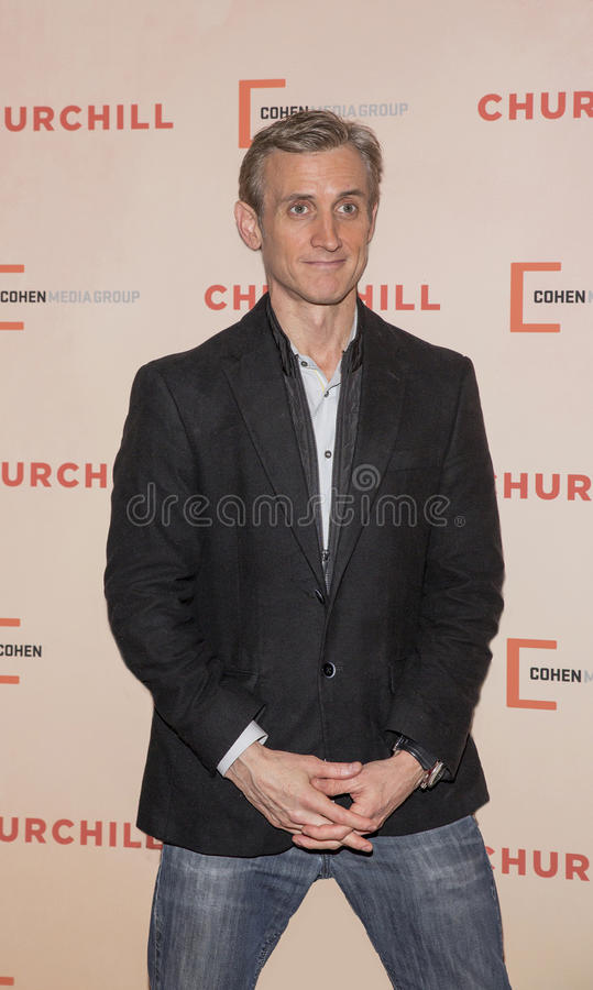 Dan Abrams. Entrepreneur/Television Host/Legal Expert Dan Abrams arrives for the New York premiere of `Churchill` at the Whitby Hotel in Manhattan on May 22 royalty free stock photos