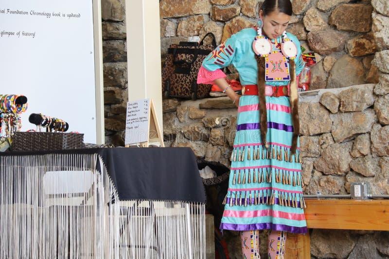 Dan?arinos do nativo americano imagens de stock