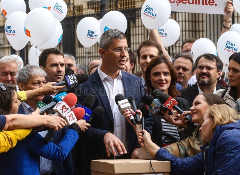 Dan Barna - race for the presidential mandate - Romanian politics. Bucharest, Romania - September 20, 2019: Dan Barna S, Co-Chairman of 2020 USR-PLUS Alliance royalty free stock photos