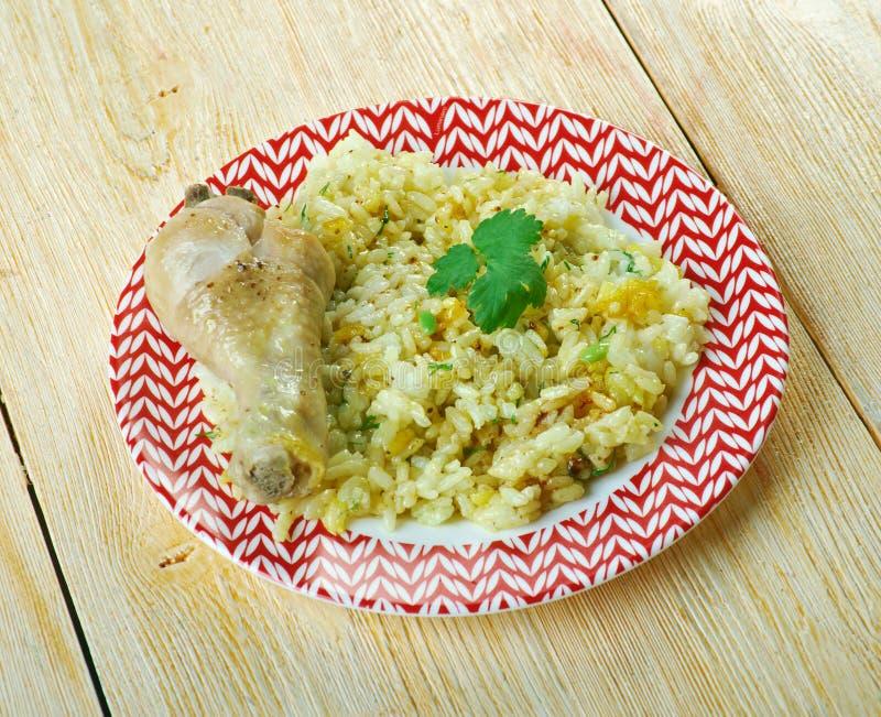 Dan Bauk. Delicious Burmese Chicken briyani stock images