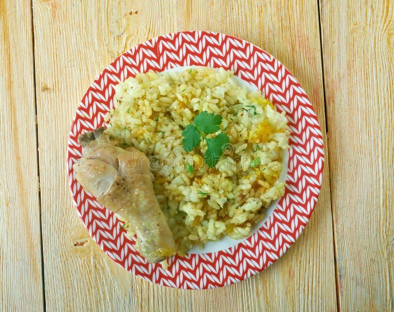 Dan Bauk. Delicious Burmese Chicken briyani stock photos
