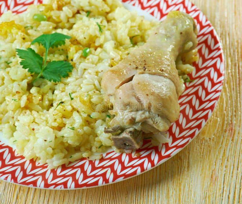 Dan Bauk. Delicious Burmese Chicken briyani stock photography