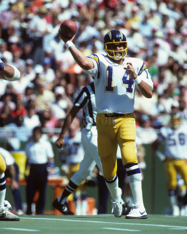Dan Fouts San Diego Chargers imagens de stock royalty free