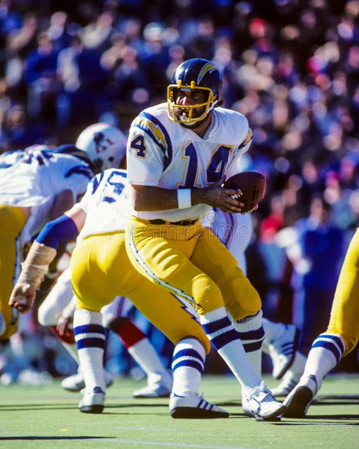 San Diego Chargers Dan Fouts: Dan Fouts San Diego Chargers Editorial Stock Photo