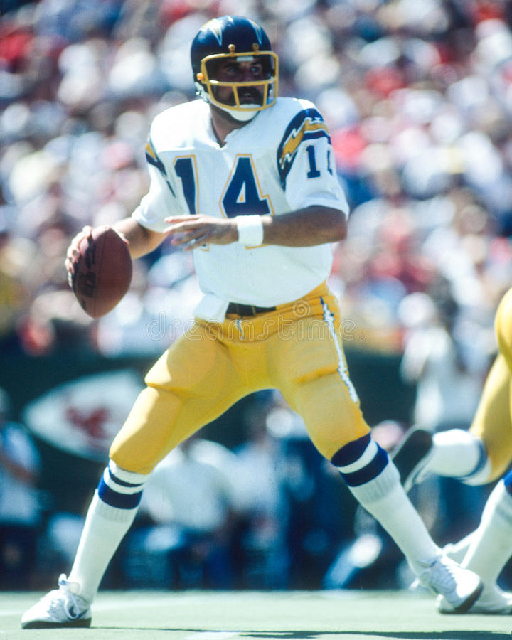 San Diego Chargers Dan Fouts: Dan Fouts San Diego Chargers Editorial Photography