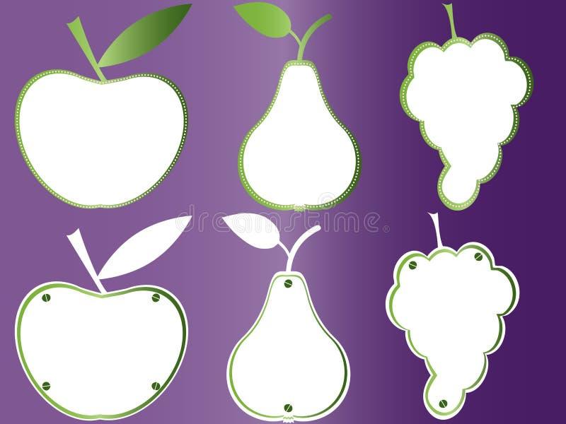 Dan fruto las placas de libro, marcos de las frutas libre illustration