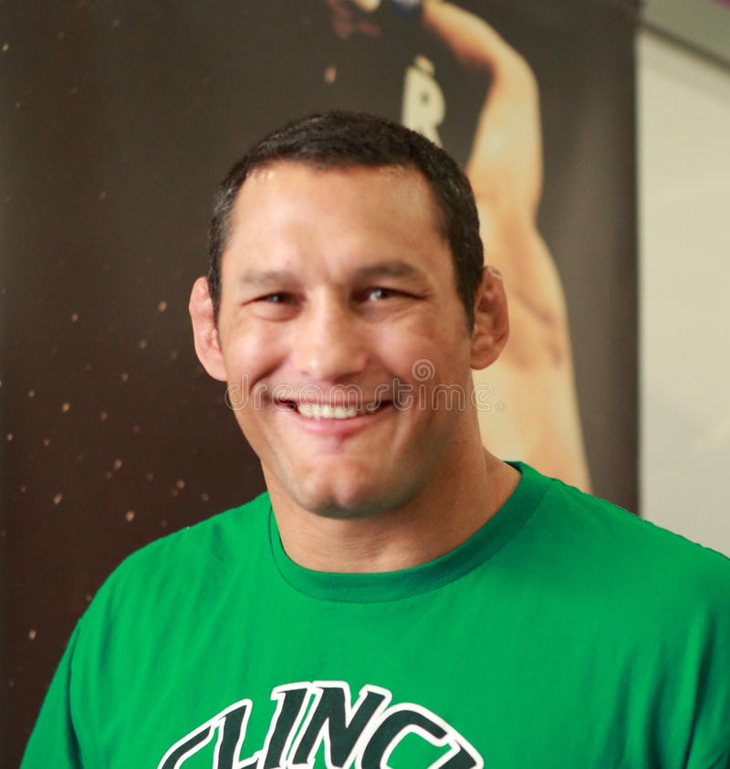 Dan Henderson- Strikeforce MMA fighter. At London SENI show on 30-May 2010. He is a four-time mixed martial arts (MMA) world champion and two-time United stock photography