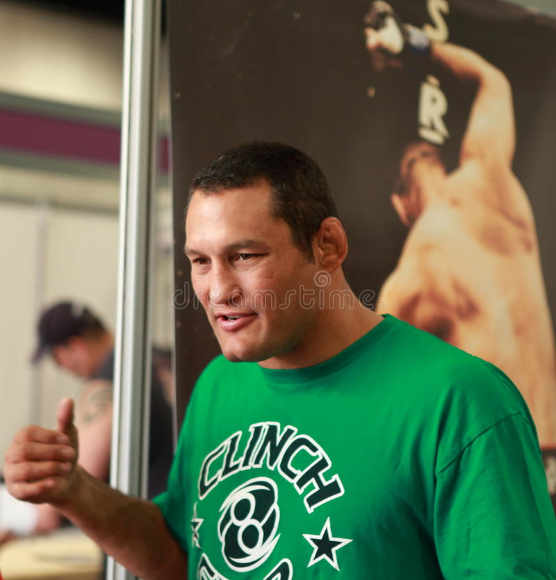 Dan Henderson- Strikeforce MMA fighter. At London SENI show on 30-May 2010. He is a four-time mixed martial arts (MMA) world champion and two-time United stock photos
