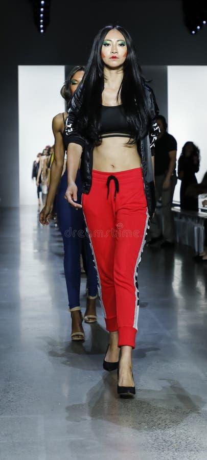 Dan Liu SS19. New York, NY, USA - September 11, 2018: Models walk runway rehearsal for Dan Liu Spring/Summer 2019 collection during New York Fashion Week at stock photography