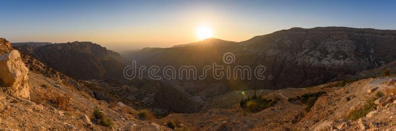 Dana Biosphere reserv, Jordanien royaltyfri fotografi