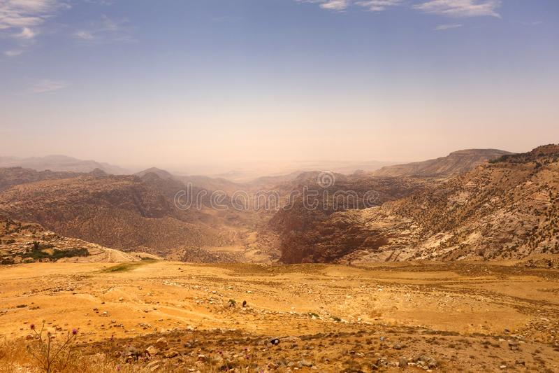 Dana Biosphere Reserve Jordan royaltyfria bilder