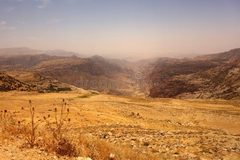 Dana Biosphere Reserve Jordan arkivbild