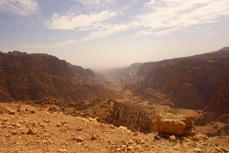Dana Biosphere Reserve Jordan arkivfoton