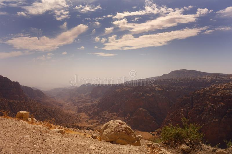 Dana Biosphere Reserve Jordan royaltyfri fotografi