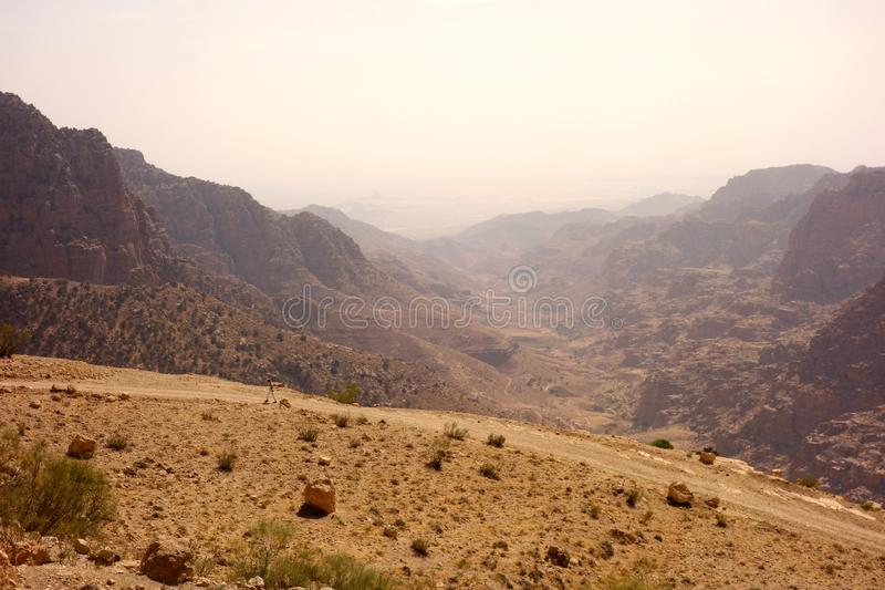 Dana Biosphere Reserve Jordan royaltyfri foto