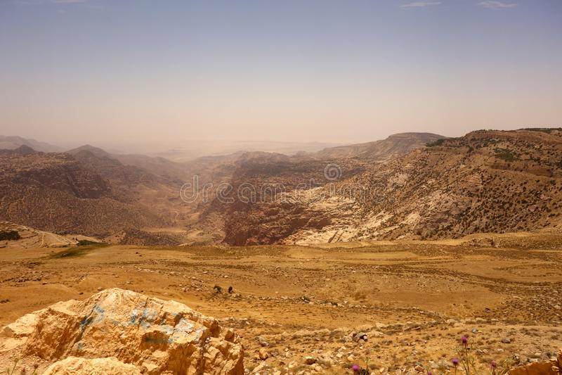 Dana Biosphere Reserve Jordan fotos de stock